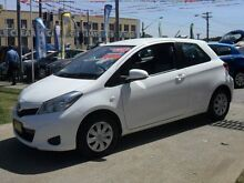 2013 Toyota Yaris NCP130R YR White 4 Speed Automatic Hatchback Canada Bay Canada Bay Area Preview