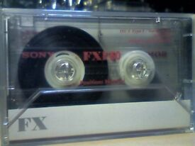 6 x SONY FXI 60 NORMAL CASSETTE TAPES. 1994-1995 FOR £3. Rare length in UK.