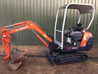KUBOTA KX36-2, 3 BUCKETS, 2003, NEW TRACKS, MINI DIGGER EXCAVATOR. £5995 +VAT
