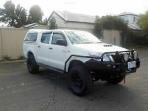 2012 Toyota Hilux KUN26R MY12 SR White Manual Dual Cab Newtown Geelong City Preview