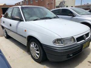 1998 Holden Astra TR City White Automatic Sedan