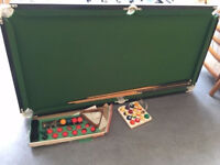 Pool/Snooker Table for Sale with balls - good condition