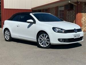 2011 Volkswagen Golf VI MY12 118TSI DSG White 7 Speed Sports Automatic Dual Clutch Cabriolet Mawson Lakes Salisbury Area Preview