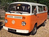 VW T2 BAY 1973 Camper (Tax Exempt, Full 12mth MOT, great runner)