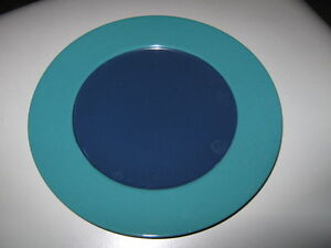 20 new luncheon/dessert/sandwich size plates.  Teal and blue. London Ontario image 1