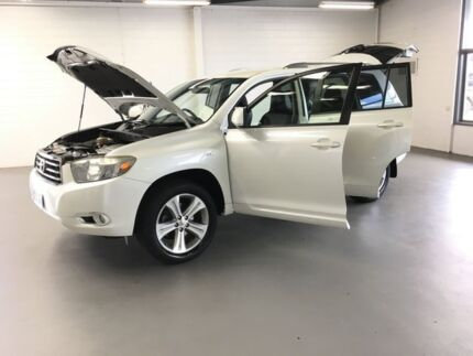 2007 Toyota Kluger GSU40R KX-S 2WD White 5 Speed Sports Automatic Wagon