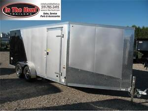 2017 Ameralite 7x21 drive in/drive out snowmobile trailer