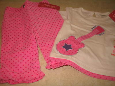 NWT Infant Girls Gymboree Polka Dot Pant and Top Set - Pink -  (3-6M)