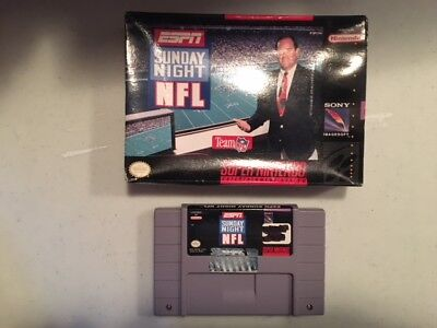 Sunday Night Nfl Football Boxed Snes Super Nintendo Game Tested   Working