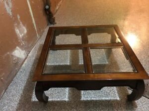 Beautiful Wood/Glass Coffee Table for sale - LAVAL