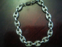 Heavy and Sold Sterling Silver Bracelet