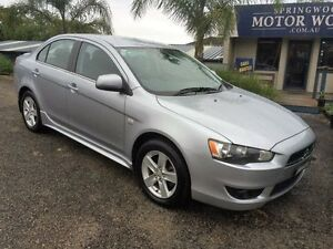 2009 Mitsubishi Lancer CJ MY09 Platinum Silver 6 Speed Automatic Sedan Springwood Blue Mountains Preview