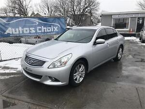 INFINITI G37X LUXURY AWD 2010 **74$/SEM.**CUIR**TOIT**CAMERA**