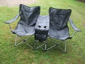 siege double camping + table jardin ronde