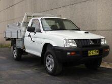 2005 Mitsubishi Triton MK MY05 GLX (4x4) White 5 Speed Manual 4x4 Cab Chassis Condell Park Bankstown Area Preview