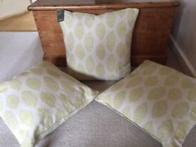 3 Linea Modern Leaf Cushions. New. Collect from Fulham