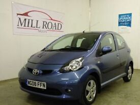 TOYOTA AYGO 1.0 BLUE VVT-I 5d 68 BHP £20 A YEAR TAX + FU (blue) 2008
