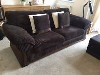 3 Seater Chocolate brown sofa in immaculate condition