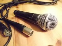 SHURE SM58 microphone not Beta, genuine Shure and XLR cable