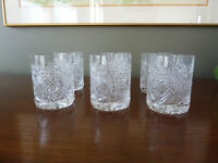Crystal Old Fashioned Glasses from Czechoslovakia