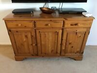 Solid Pine Furniture - Sideboard, 2 side tables and media unit