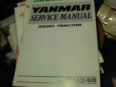 Yanmar Service Manual Diesel Tractor Model Ym240