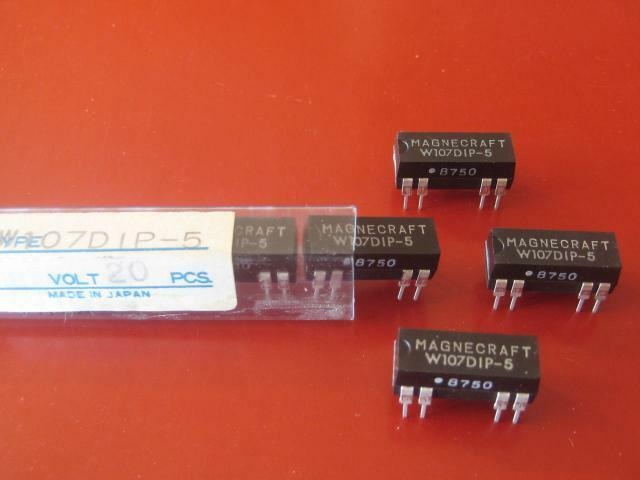 MAGNECRAFT W107DIP-5 REED RELAY  Relays ( Qty 5 ) *** NEW ***