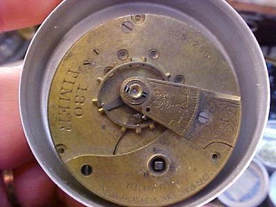 Waltham 18s key wind  pocket watch movement engraved 130 TIMER