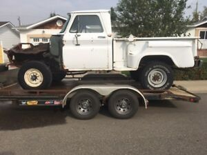 LOOK! ONLY $3500.00! SHORT BOX 4X4! 64 CHEV SURVIVOR!