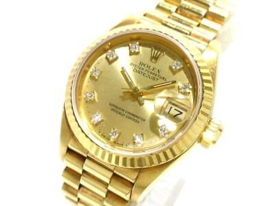 Auth ROLEX Datejust 69178G Champagne Gold 9847692 Women's Wrist Watch