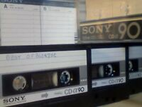SONY CD-a ALPHA 90 CHROME CASSETTE TAPES 1978 NOW ULTRA-RARE