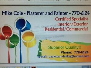 MIKE COLE - PLASTERER AND PAINTER - 770-6124 St. John's Newfoundland image 1