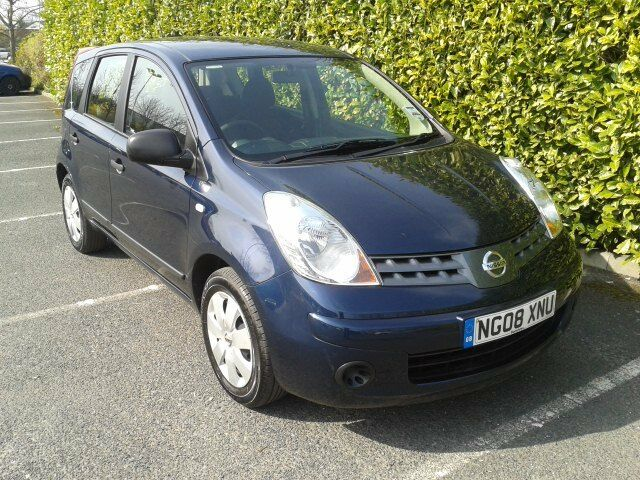 nissan note visia mpv 2008 dark blue 5 door 1400cc new mot 3 month warranty in hereford. Black Bedroom Furniture Sets. Home Design Ideas