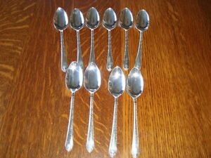 10 x 1940 WM ROGERS & SON TEASPOONS EXQUISTE PATTERN