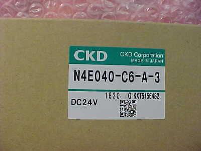 Ckd Corp. Solenoid Valve N4e040-c6-a-3 Dc24v Disco Lnme-010089-00