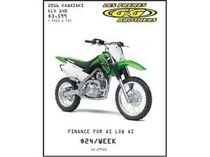 YEAR END CLEARANCE ON ALL KAWASAKI DIRT BIKES AT G & G BROTHERS