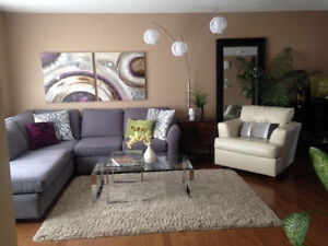 Two furnished rooms in clean, comfy condo. Available immediately
