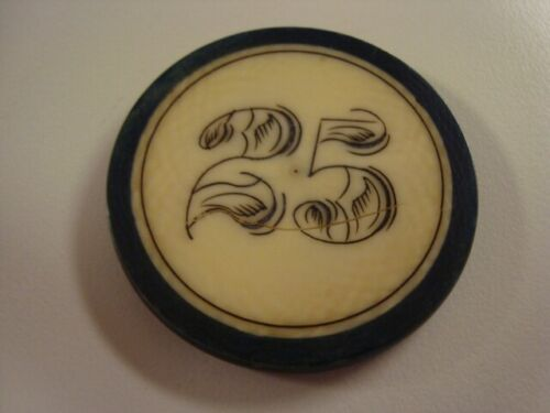 Circa 1880s Old West $25 Poker Chip, Version 2