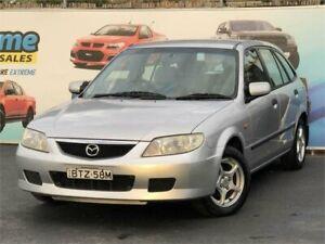 2001 Mazda 323 BJ Astina Silver Manual Hatchback Campbelltown Campbelltown Area Preview