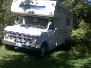 Motor home with reconditioned motor