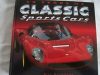 50 YEARS OF CLASSIC SPORTS CARS HARDBACK BOOK BY BILL REYNOLDS, 288 PAGES OF QUALITY PHOTOS