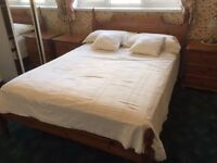 solid pine double bed with mattress delivery available