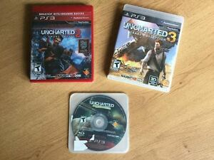 PS3 UNCHARTED DRAKE'S COLLECTION 1-2-3- 5$ ET +