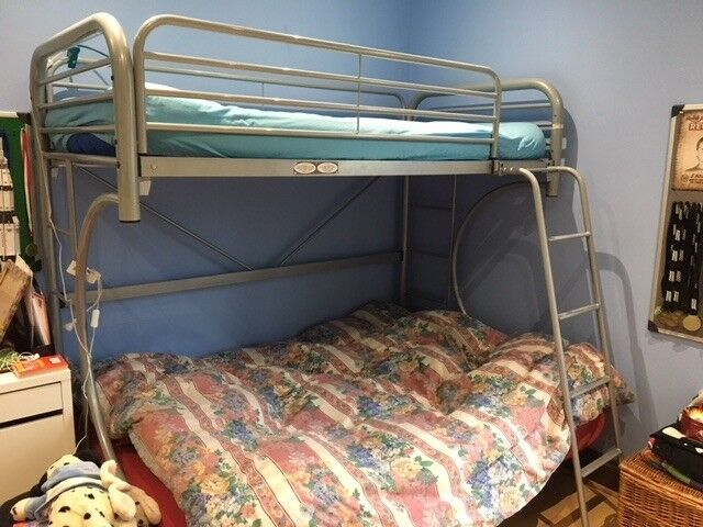 Triple Sleeper Metal Futon Bunk Bed Including The Mattresses