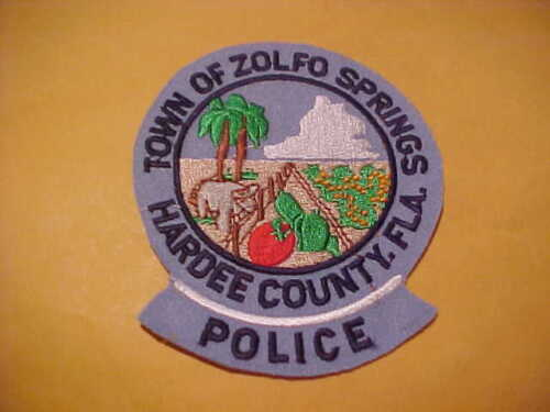 TOWN OF ZOLFO SPRINGS FLORIDA POLICE PATCH SHOULDER SIZE UNUSED NO EDGE