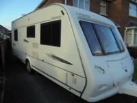 2008 Elddis Odyssey 544 4 Berth Caravan For Sale.Fixed Bed.Motormover