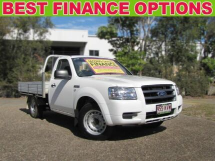 2008 Ford Ranger PJ XL White 5 Speed Manual Cab Chassis