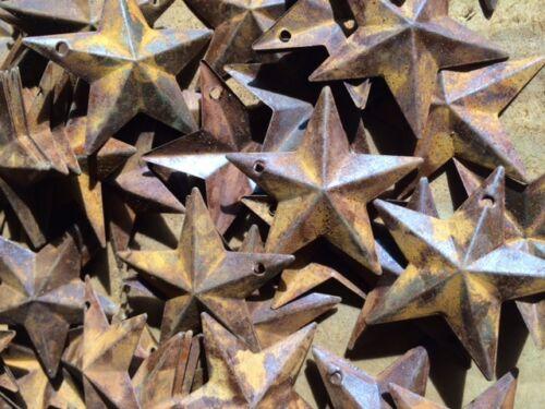 "100 Rusty Barn Stars 1.5"" inch 1 1/2 Primitive Country Farm Crafts Supplies Rust"