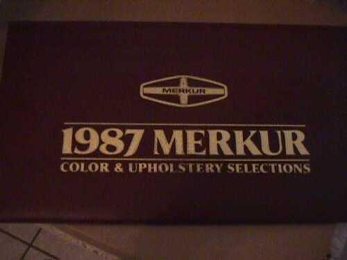 SCARCE 1987 MERKUR DEALER COLOR AND UPHOLSTERY SHOWROOM ALBUM