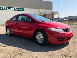 2010 HONDA CIVIC COUPE -LOW KMS/ COMES WITH 3MTH WARRANTY